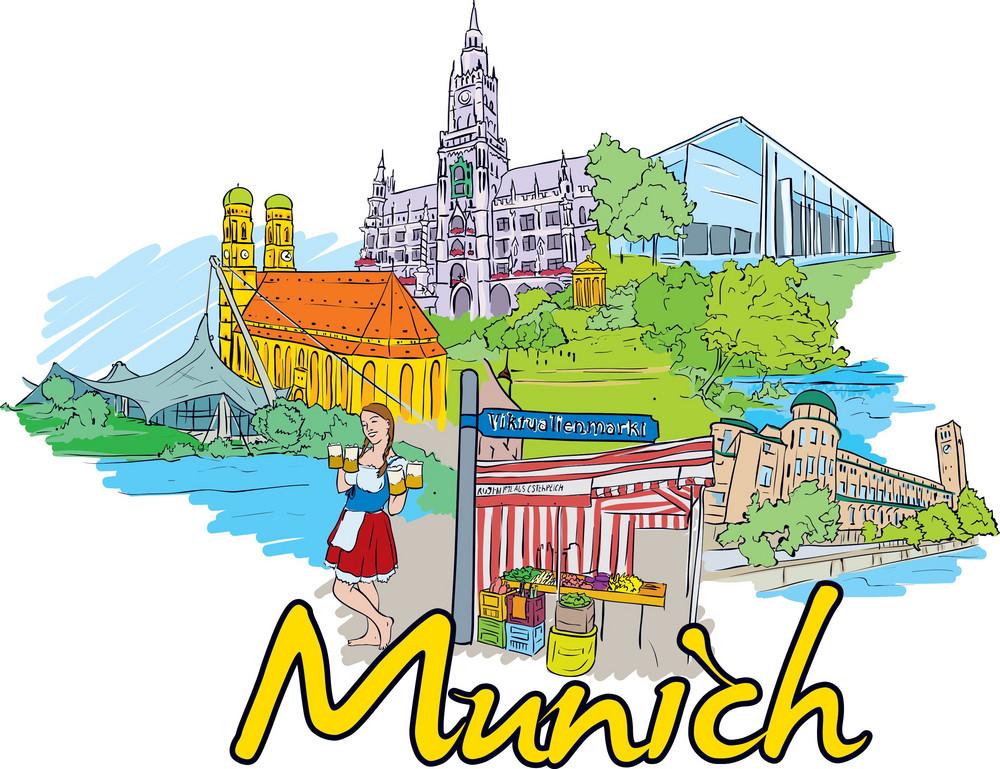 Munich Vector Doodle
