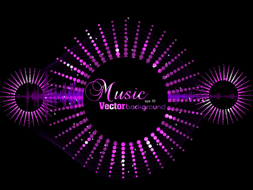 Music Background With Glitters.