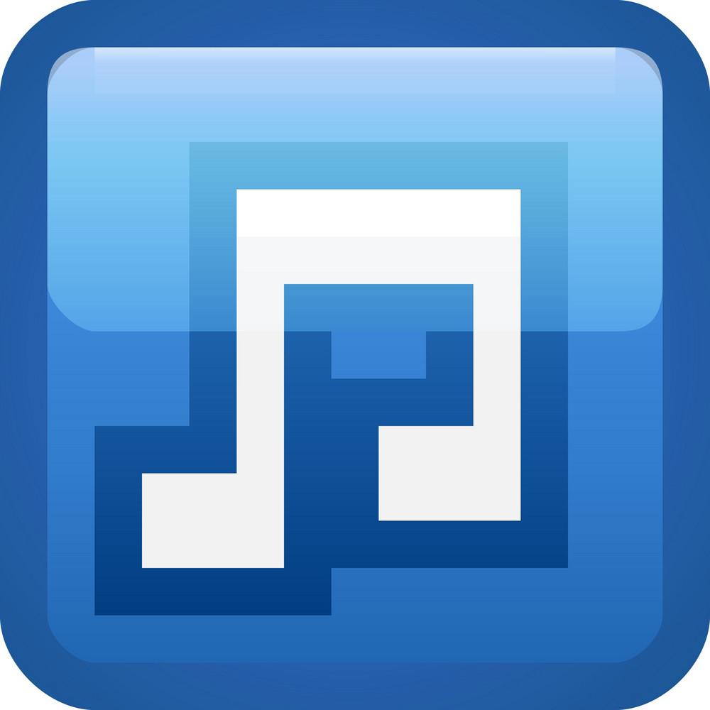 Music Blue Tiny App Icon