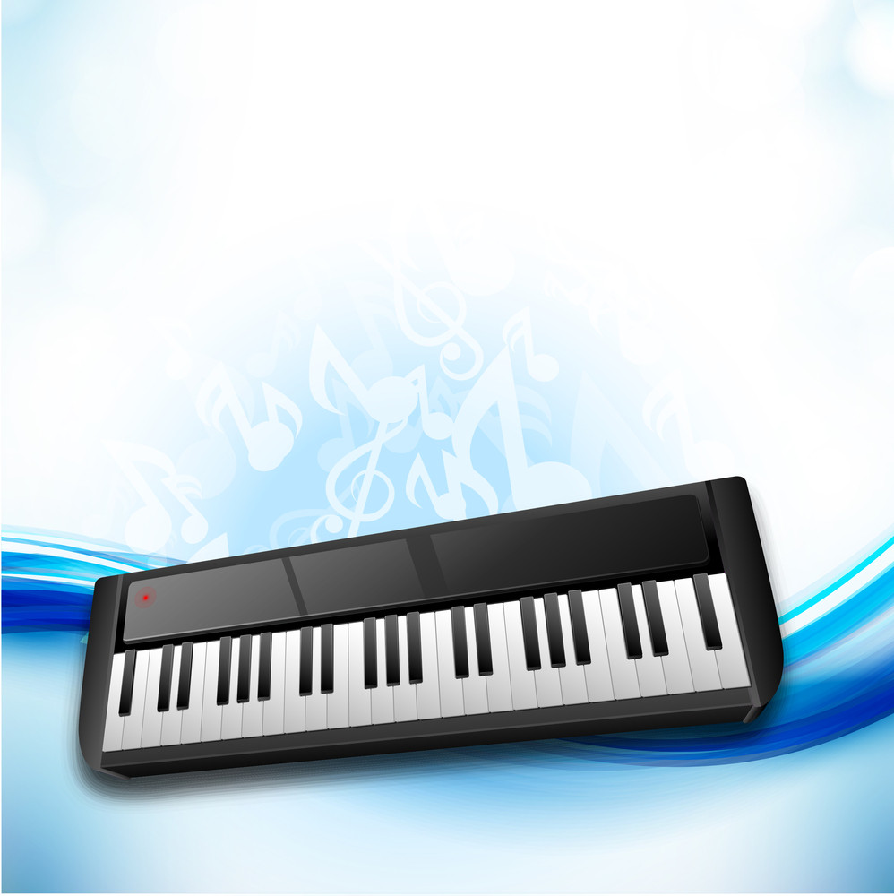 Music Concept With Piano On Musical Notes Background