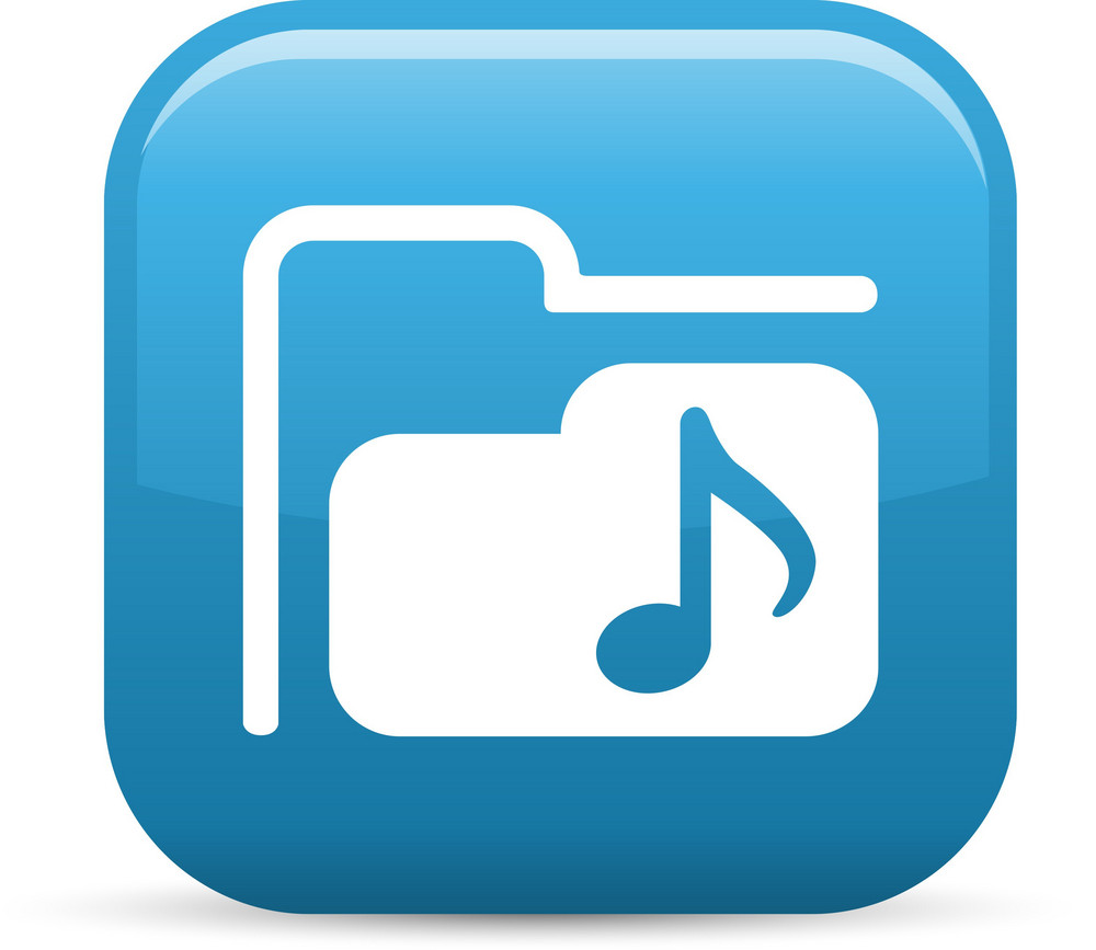 Music Folder Elements Glossy Icon