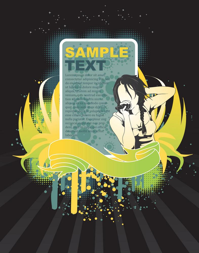 Music Frame Vector Illustration