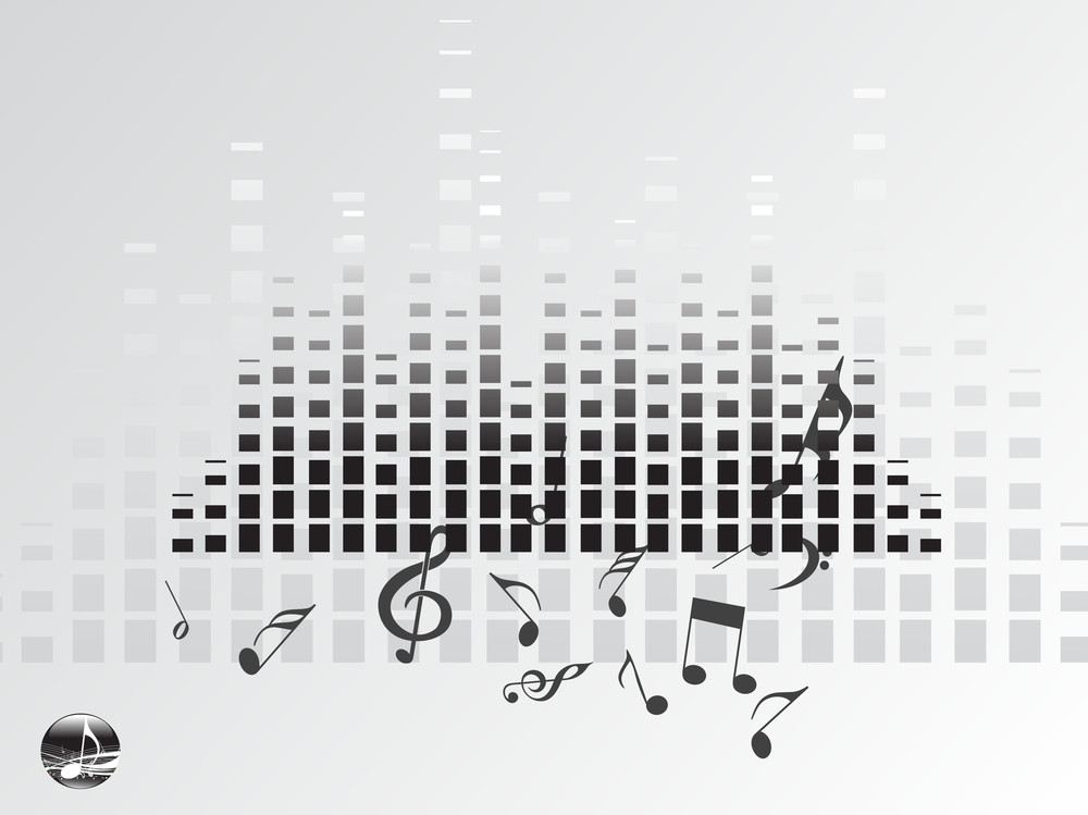 Music Graph On Gray Background