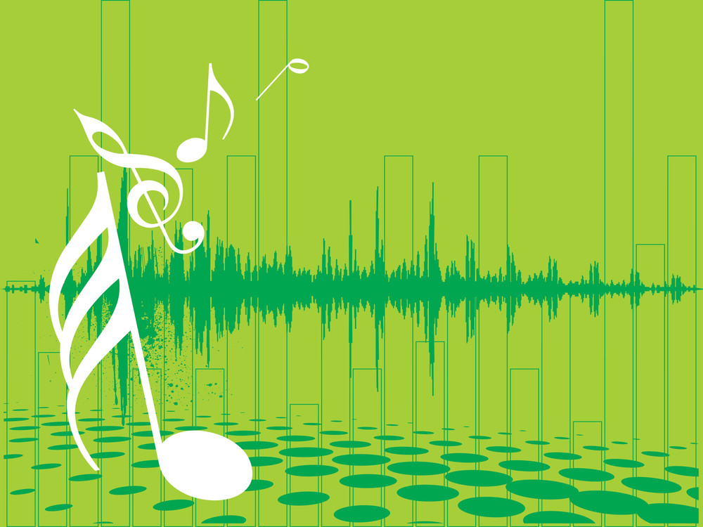 Music Halftone On Pink Background