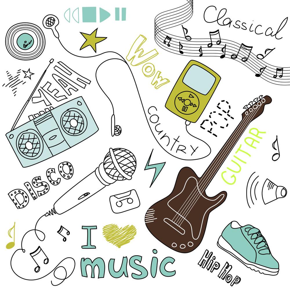 Music Vector Doodles
