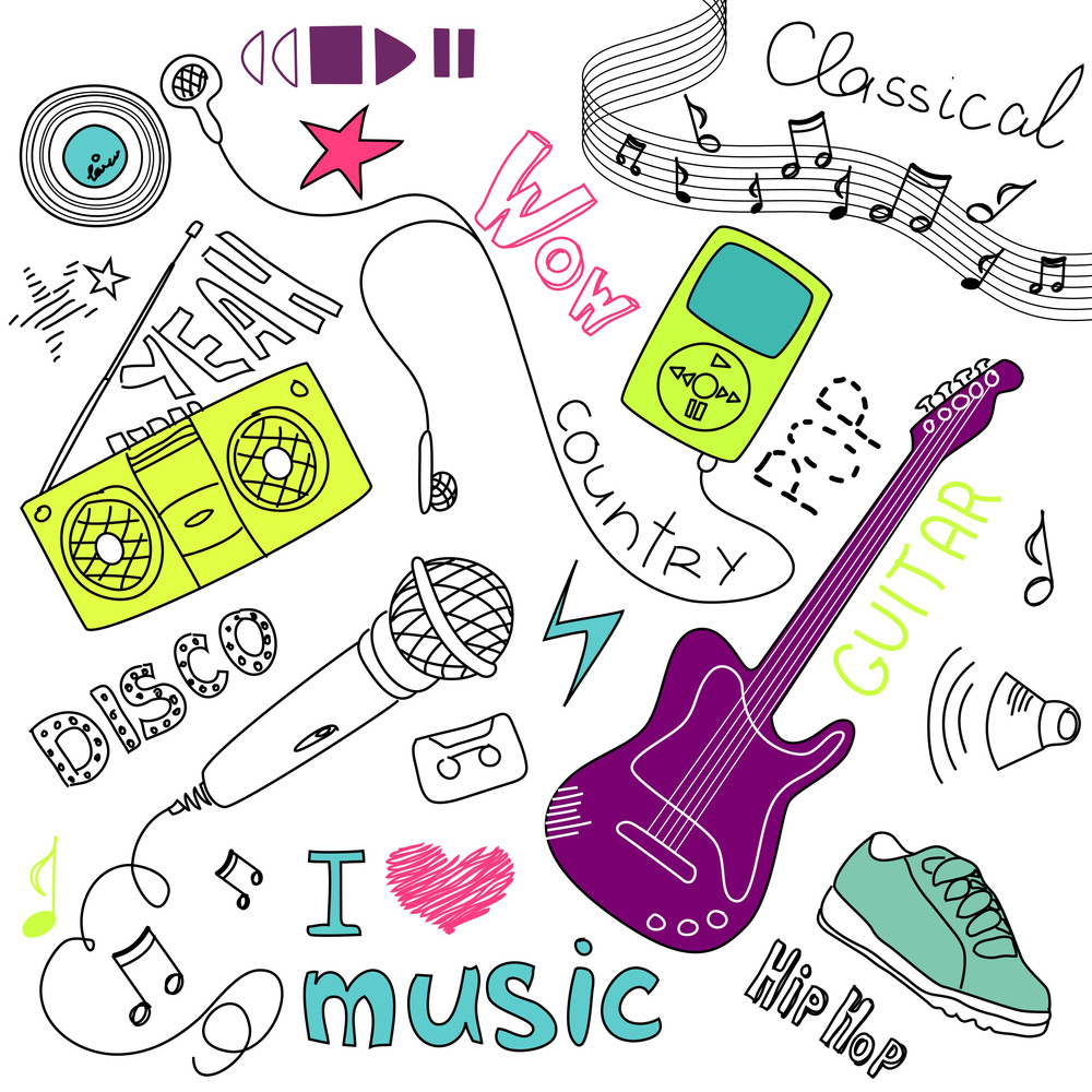 Music Vector Doodles-