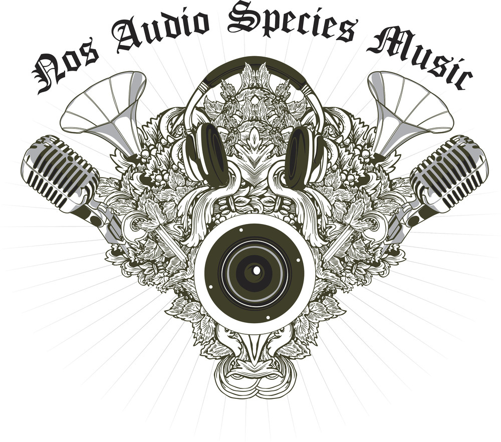 Music Vector T-shirt Design With Speaker