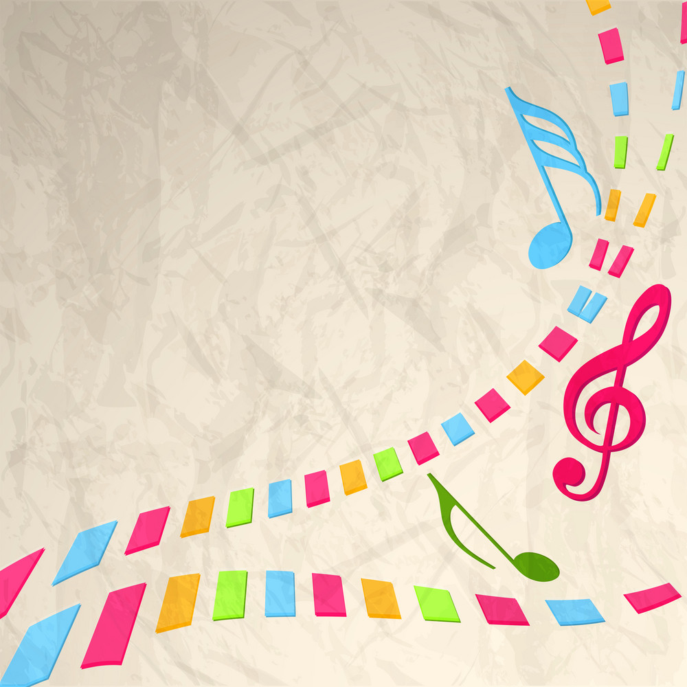Abstract musical concept with music symbols