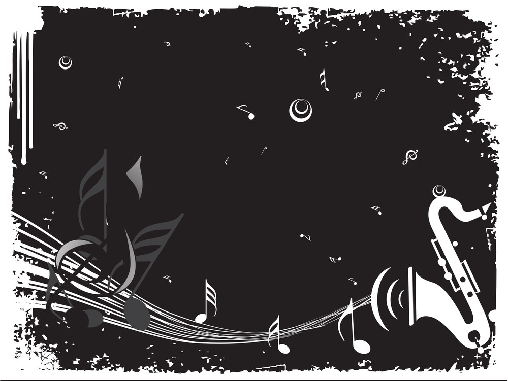 Musical Background With Saxophone