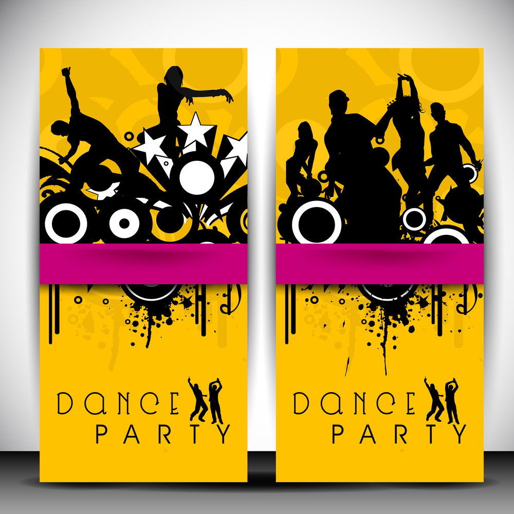 Musical Dance Party Background. Flyer Or Banner.
