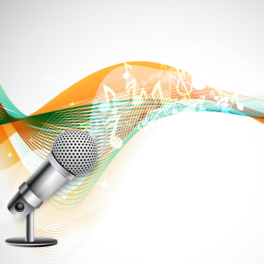 Musical Illustration With Microphone