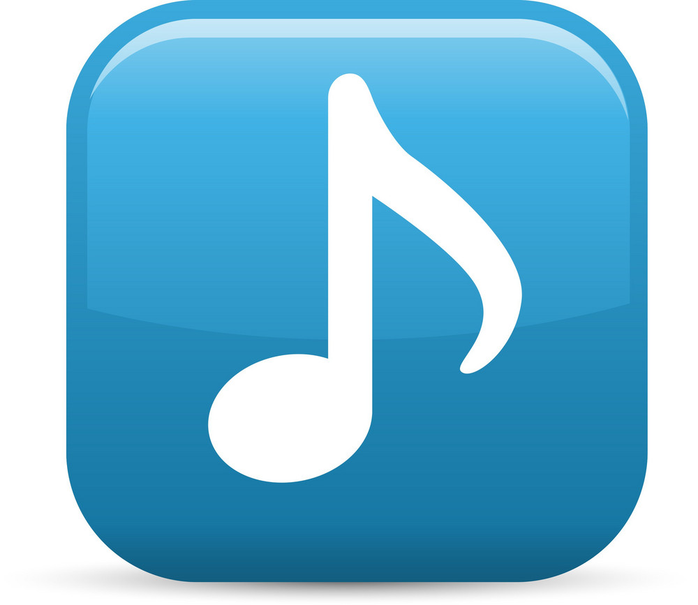 Musical Note Elements Glossy Icon