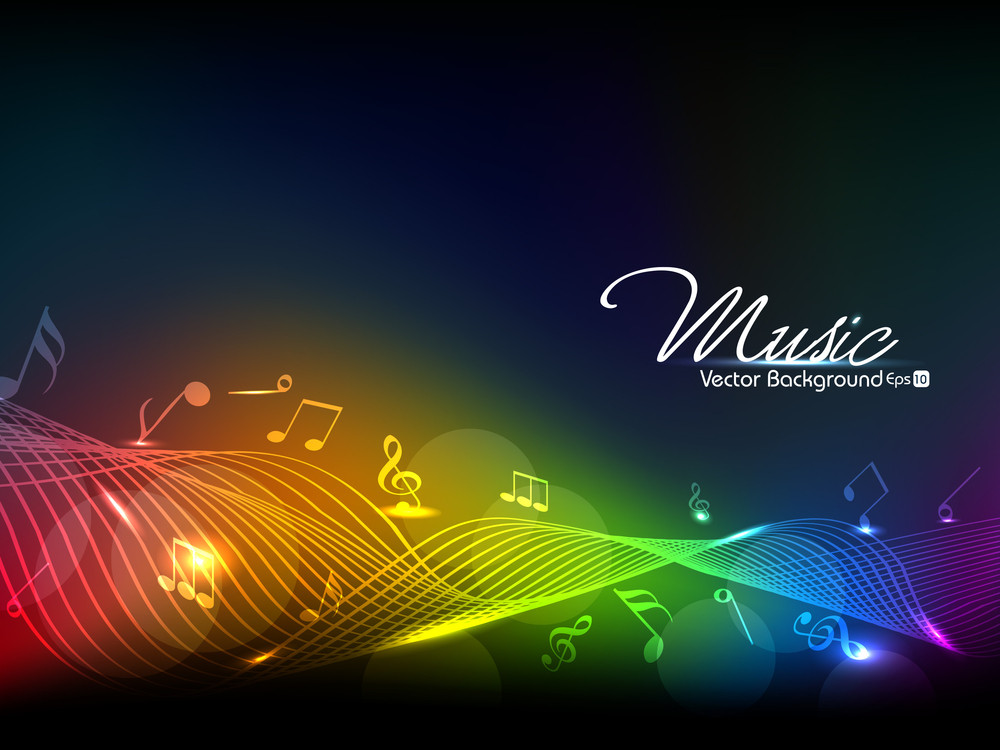 Musical Wave Vector Background.