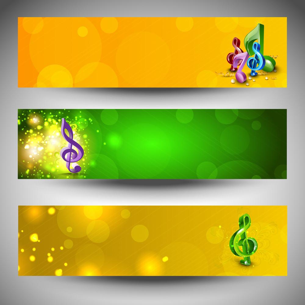 Musical Website Headers Or Banners