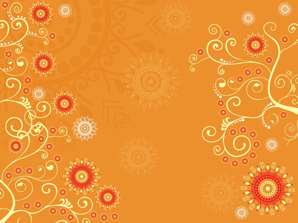 Mustard Creative Floral Design Background