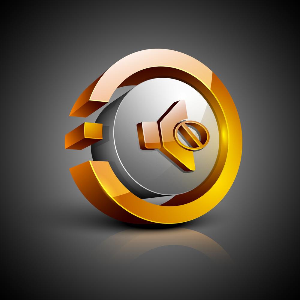 Mute Symbol Icon Set.
