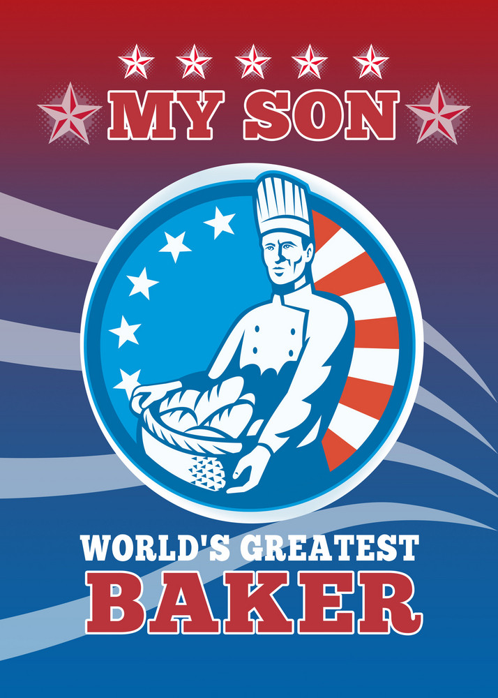 My Son World's Greatest Baker Son Greeting Card Poster