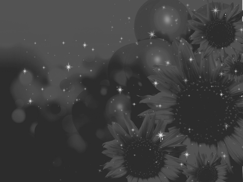 Mysterious Black Flowers Background