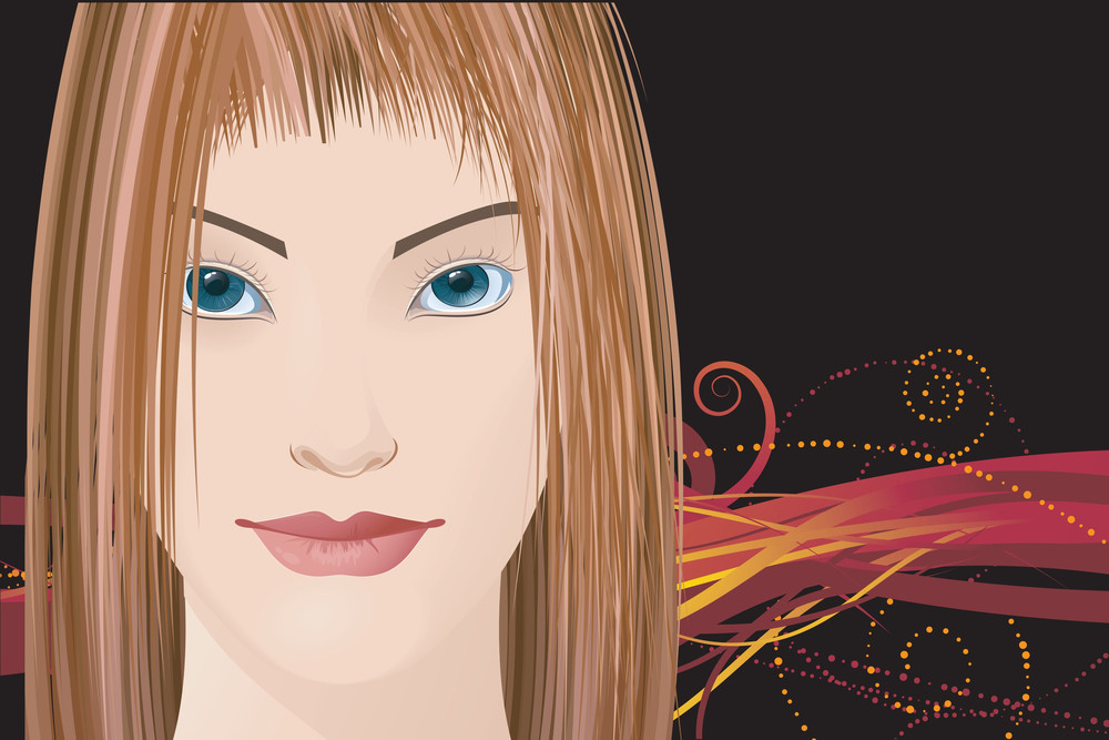 Mysterious Lady. Vector.