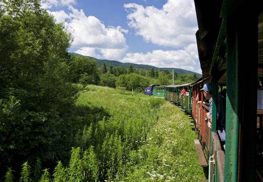 Narrow-gauge Railway In Bieszczady Poland