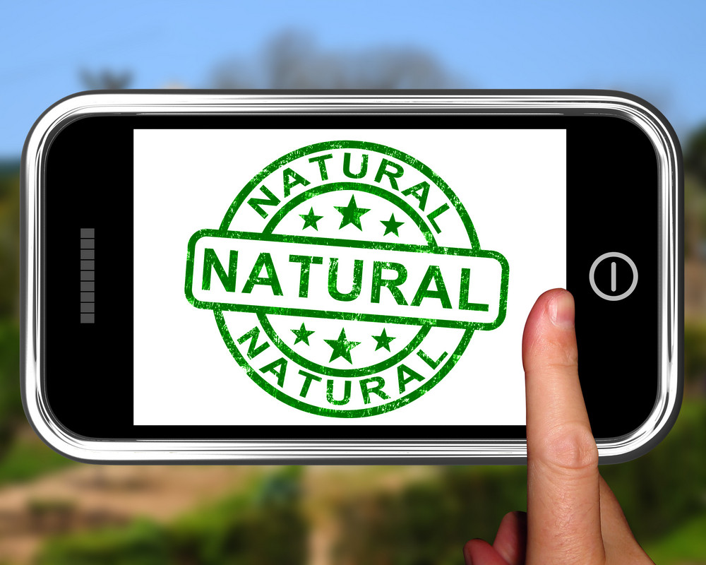 Natural On Smartphone Showing Untreated Products