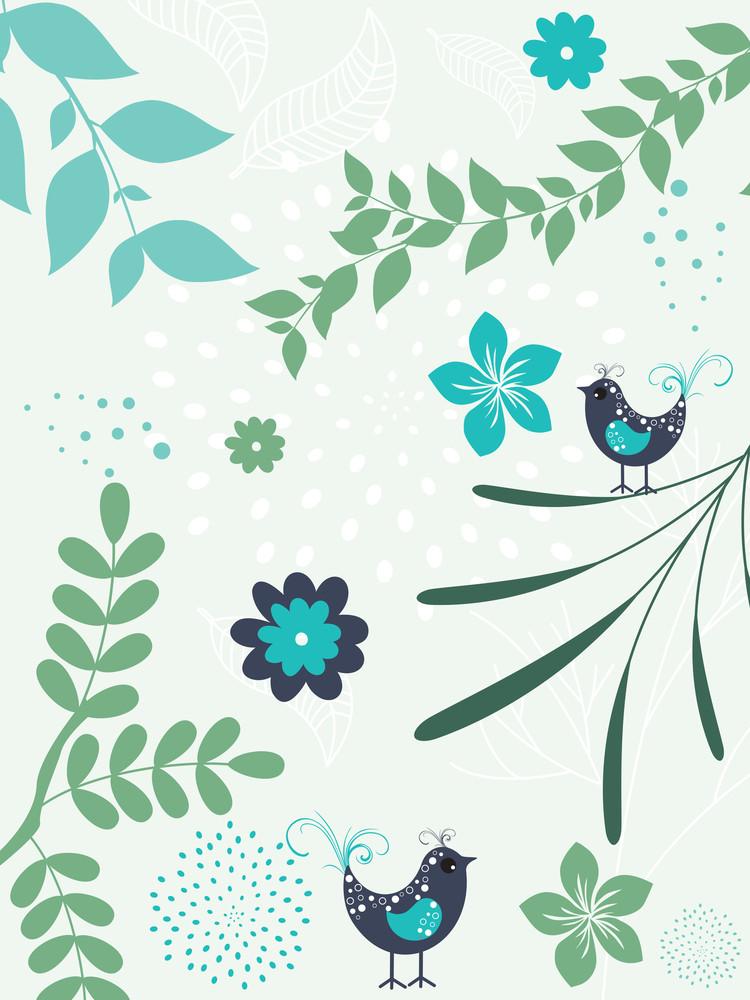 Natural Pattern Card Illustration
