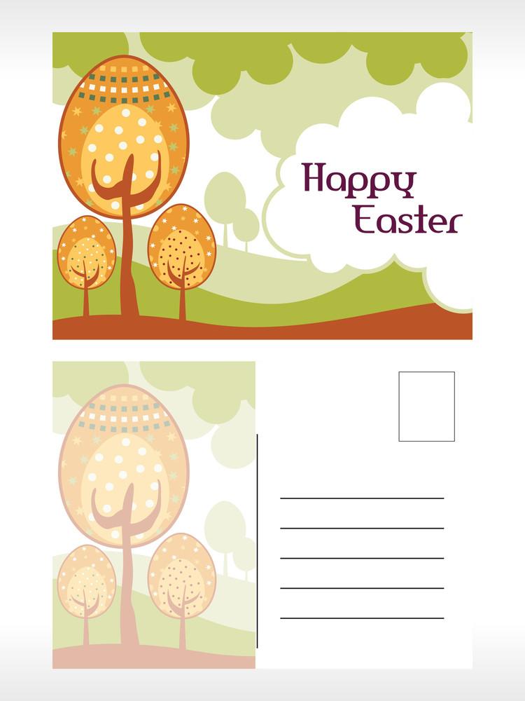 Natural Pattern Easter Pot Card
