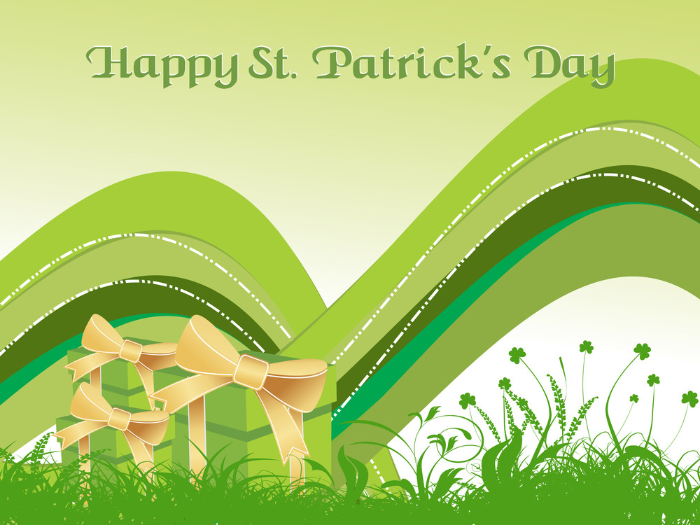 Natural Pattern Illustration For Patrick Day
