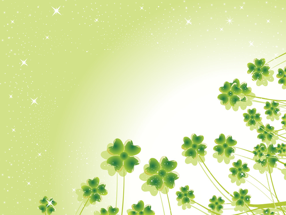 Natural Shamrock With Background
