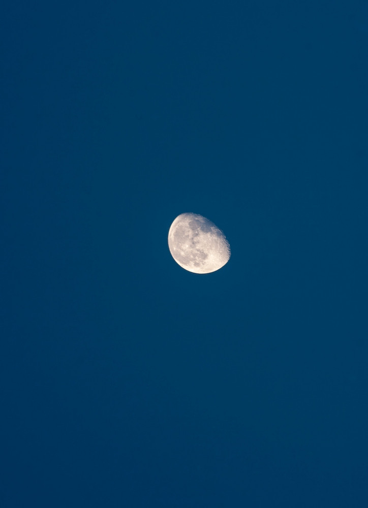 Natural sky with moon. Close up of moon