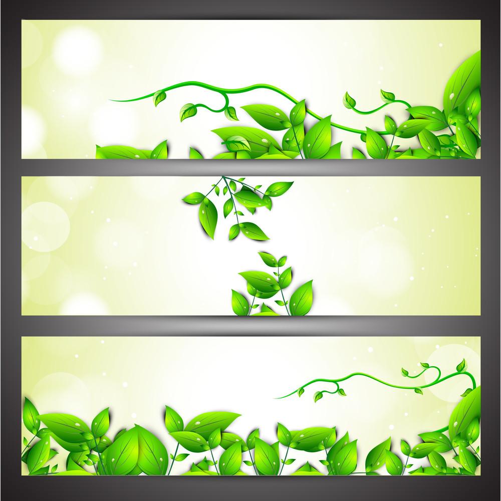 Nature And Eco Website Header Or Banner Set