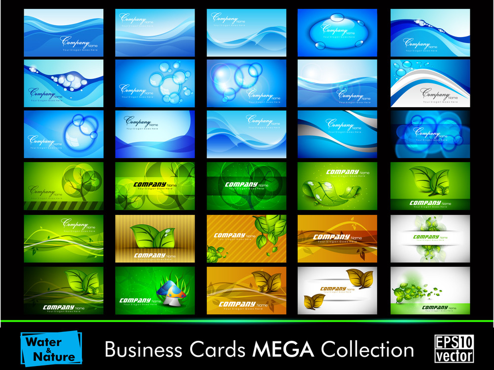 Nature And Water Business Card Set