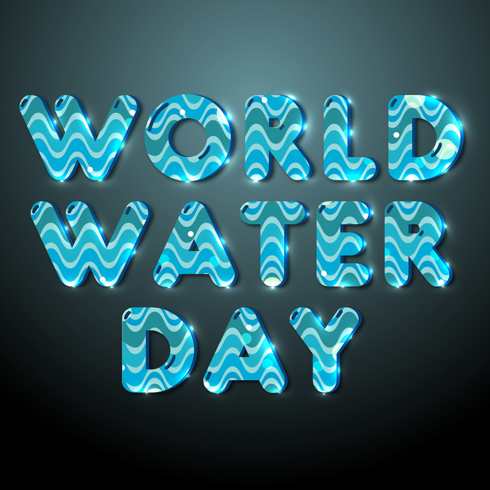 Nature Background With Blue Text World Water Day.