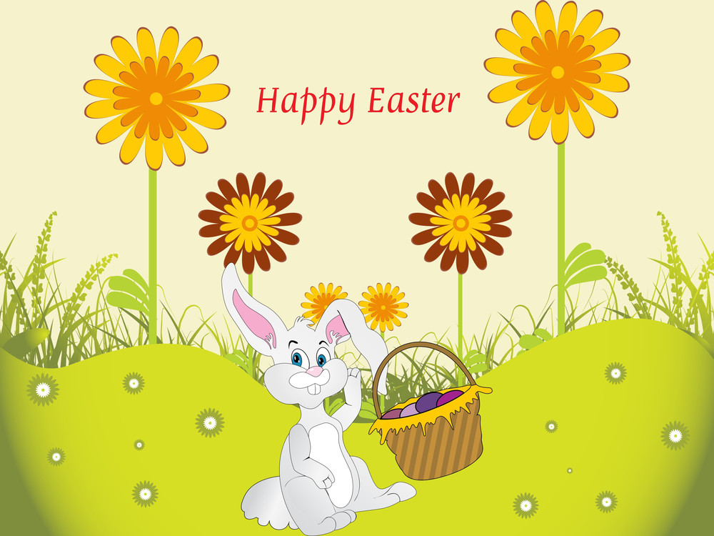 Nature Background With Bunny