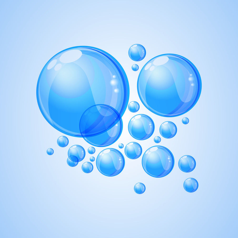 Nature Background With Shiny Blue Balls.