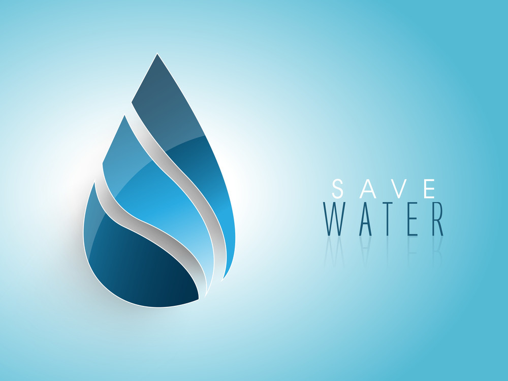 Nature Background With Shiny Blue Water Drop