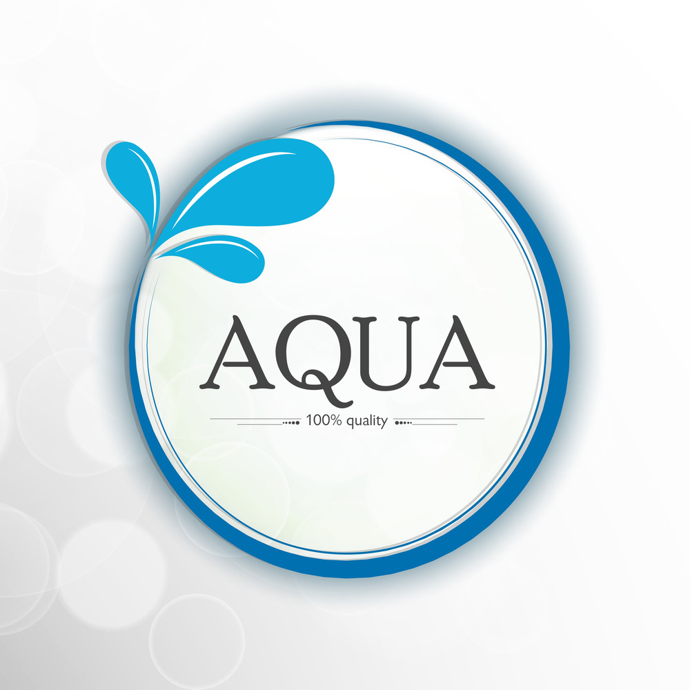 Nature Background With Stylish Text Aqua And Water Drops.
