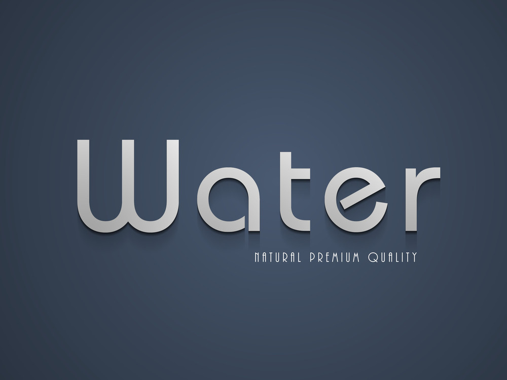 Nature Background With Stylish Text Water On Grey Background.