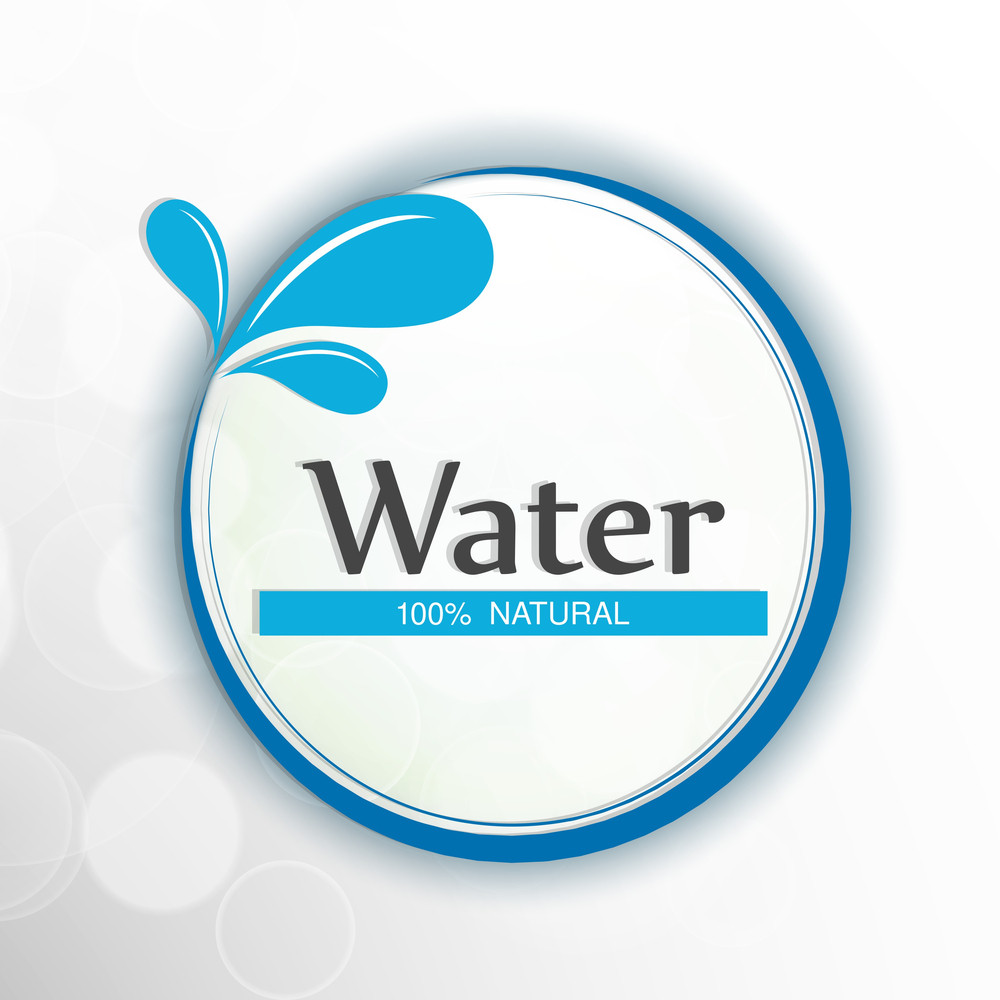 Nature Background With Water Drops And Stylish Text.