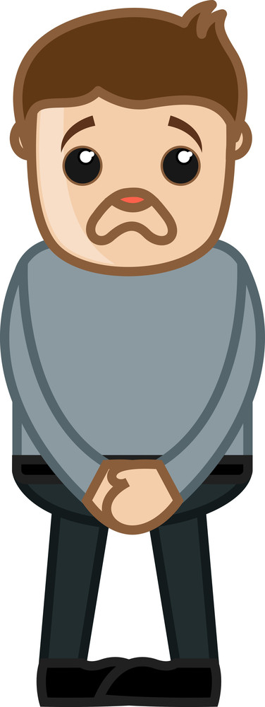 Nature Call - Business Cartoon Character Vector