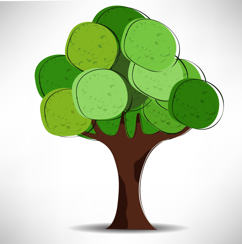 Nature Concept With Green Tree.