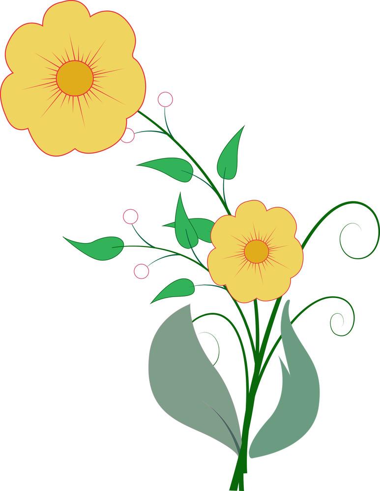 Nature Flowers Vector Art