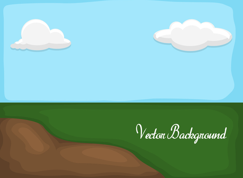 Nature Landscape Vector Drawing