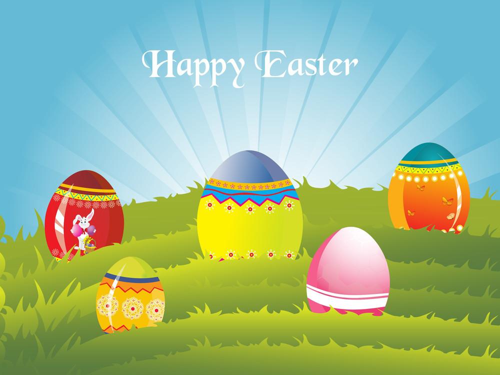 Nature Pattern Card For Easter Celebration