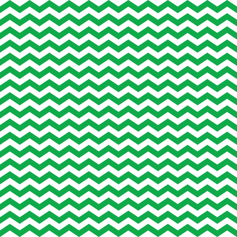 Nautical Pattern Of Green And White Chevrons