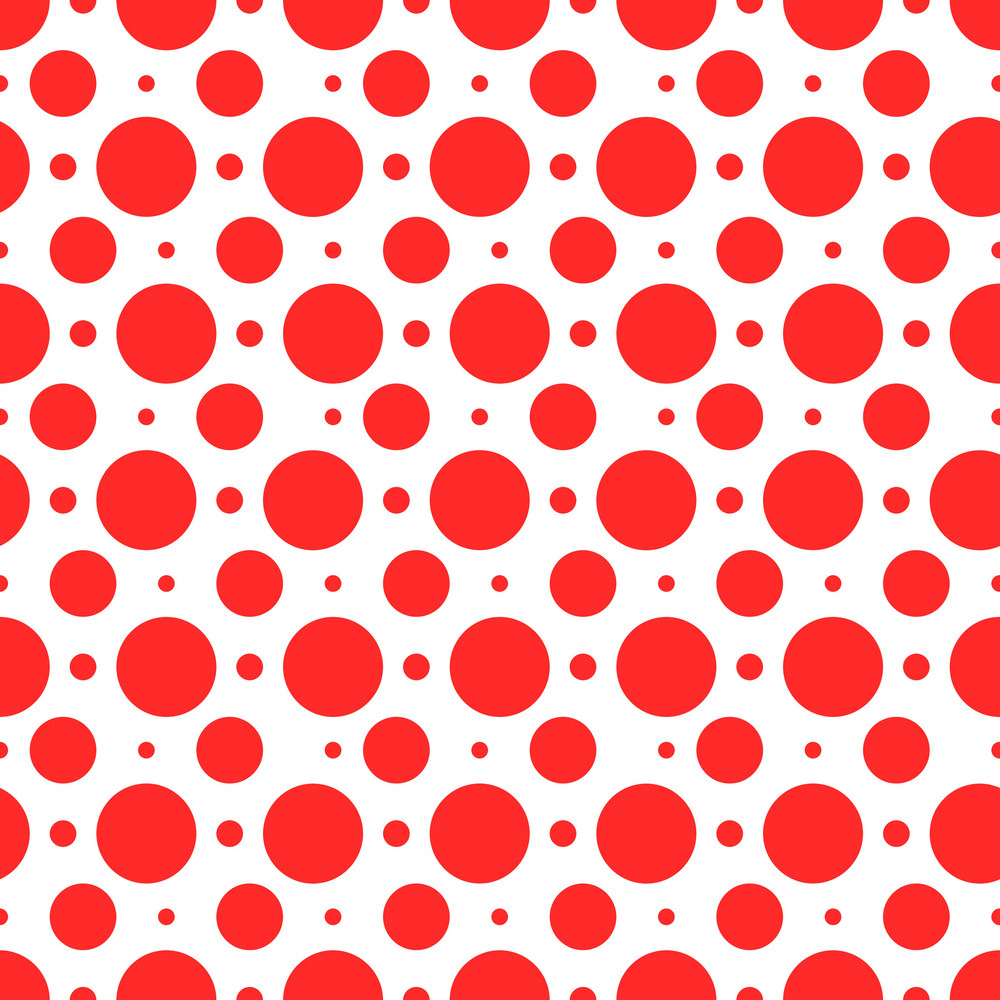 Nautical Pattern Of Red Polka Dots On A White Background