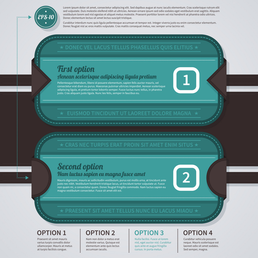 Two Horizontal Options. Eps10.