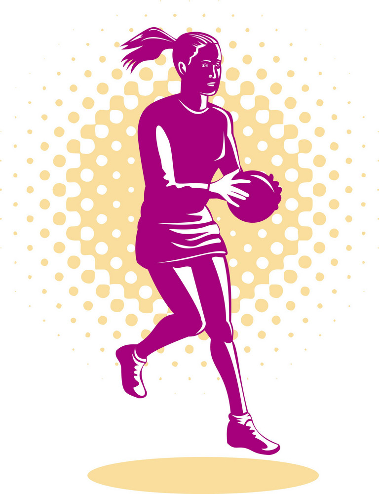 Netball Player Jumping