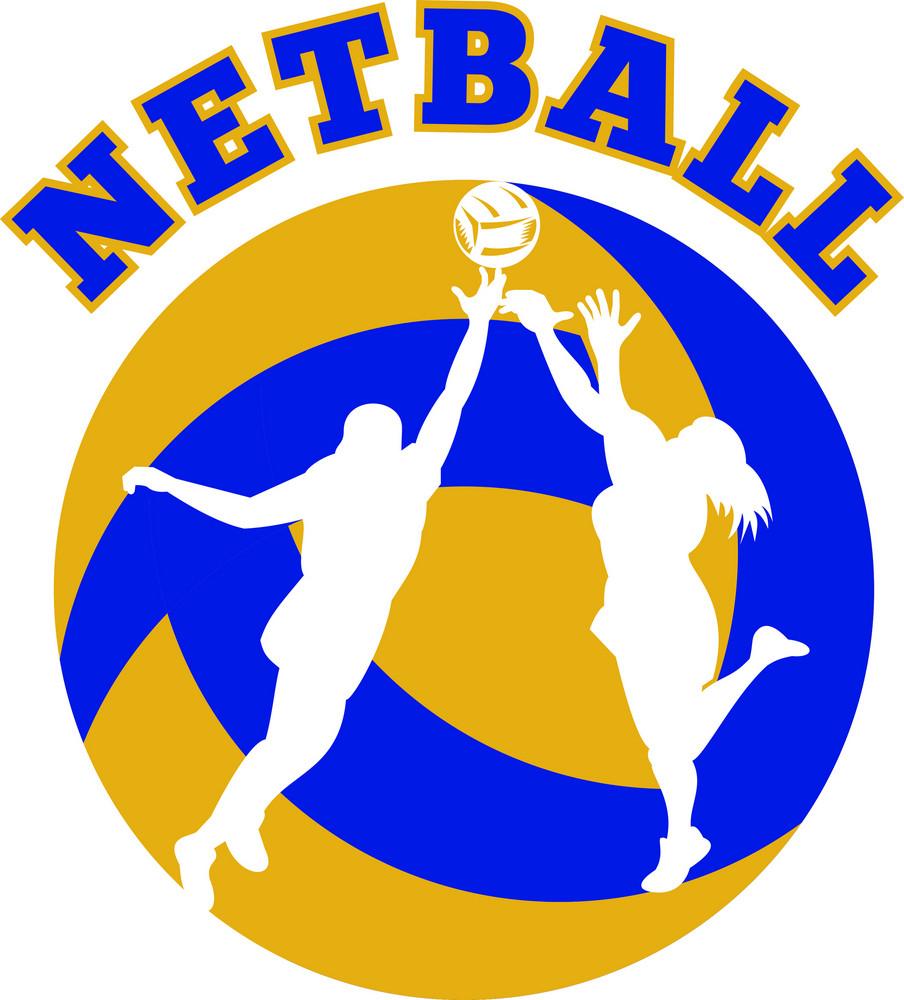 Netball Player Rebounding For Ball