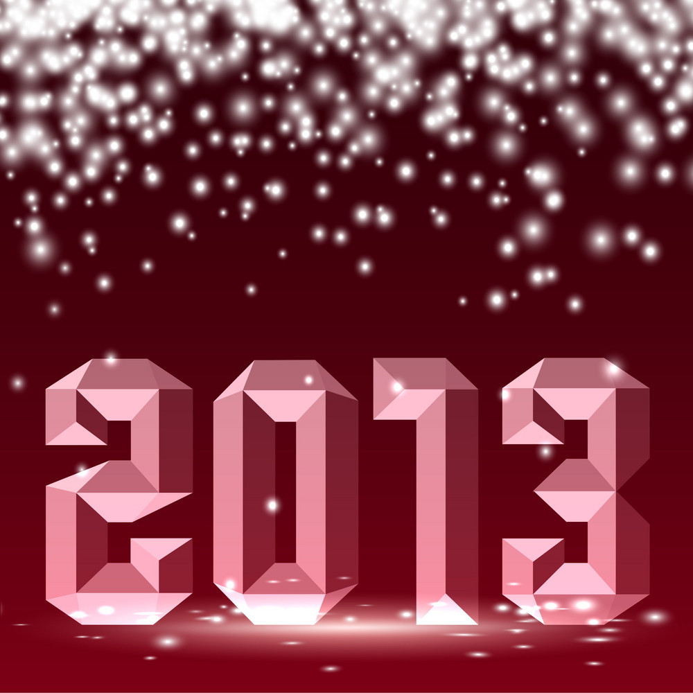 New 2013 Year 3d Figures With Lights